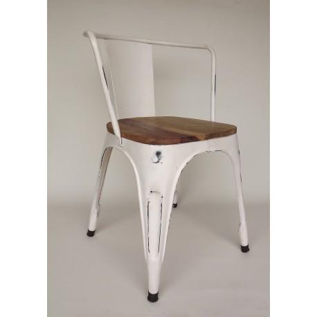 Chair Retro Iron White