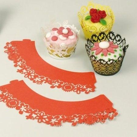 Patisse Cupcakehouders rood
