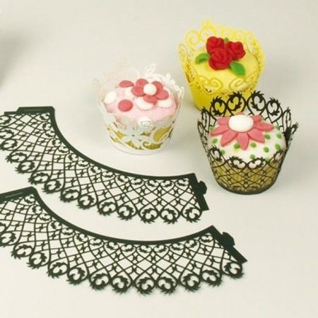 Patisse Cupcakehouders zwart