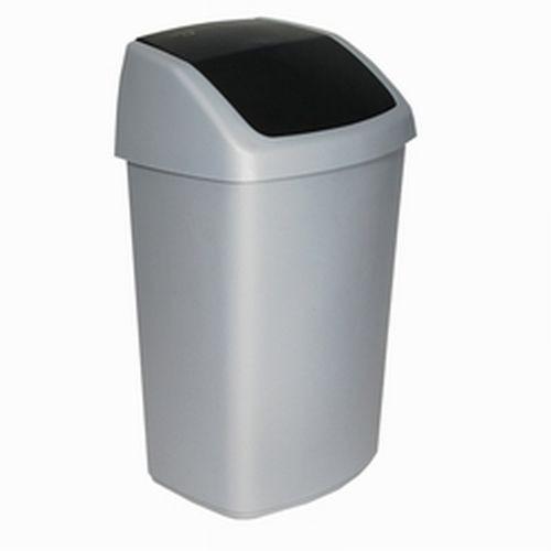 Curver afvalbak swing 50 liter zilver