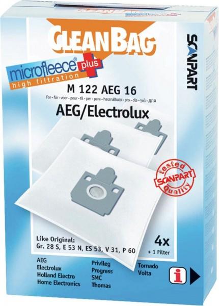 Scanpart CleanBag M122AEG16 stofzuigerzak microfleece AEG gr 28