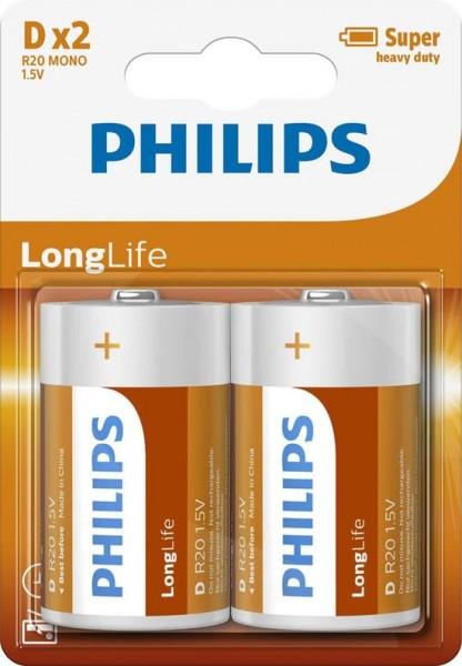 Philips Batterijen Longlife D