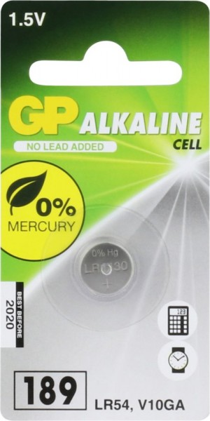 GP knoopcelbatterij Alkaline LR54