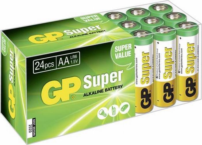 GP alkaline AA-batterijen 24 stuks