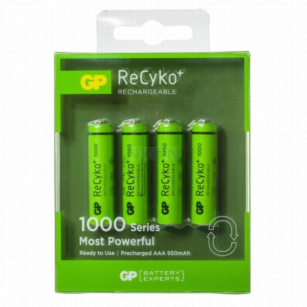 GP Recyko oplaadbare batterijen 4xAAA