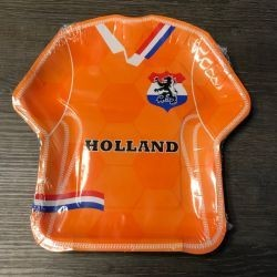 Bordjes Set Van 8 T-Shirt Oranje