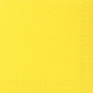Duni servetten 33x33cm geel