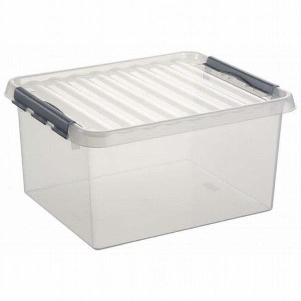 Sunware opbergbox Q-Line transparant 36 liter met deksel