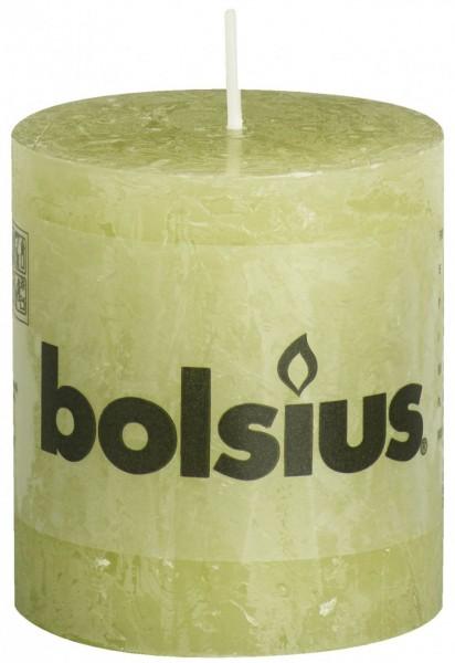 Bolsius Stompkaars Rustiek 8 cm Lichtgroen