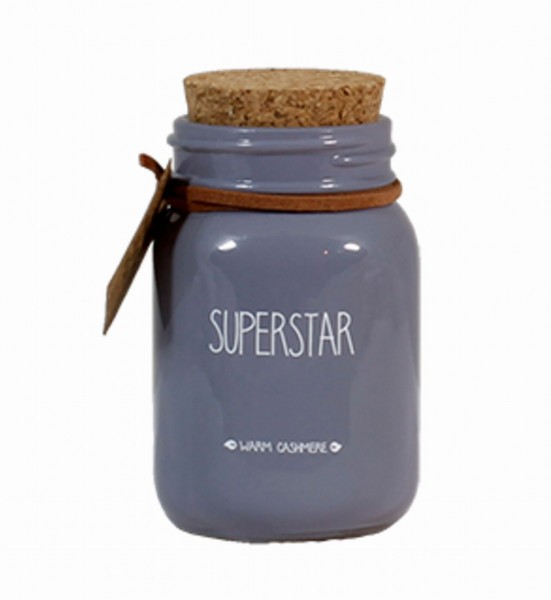 My Flame Lifestyle scented soy candle grey superstar
