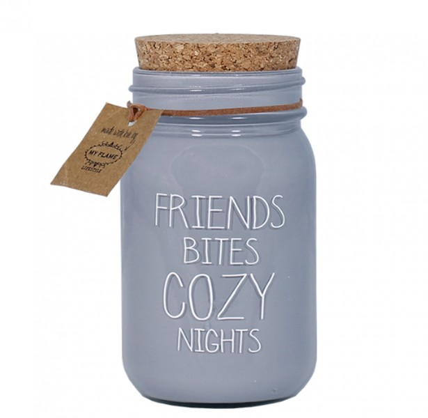 My Flame Lifestyle scented soy candle grey friends