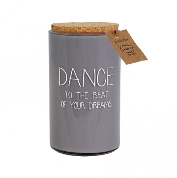 My Flame Lifestyle scented soy candle grey dance