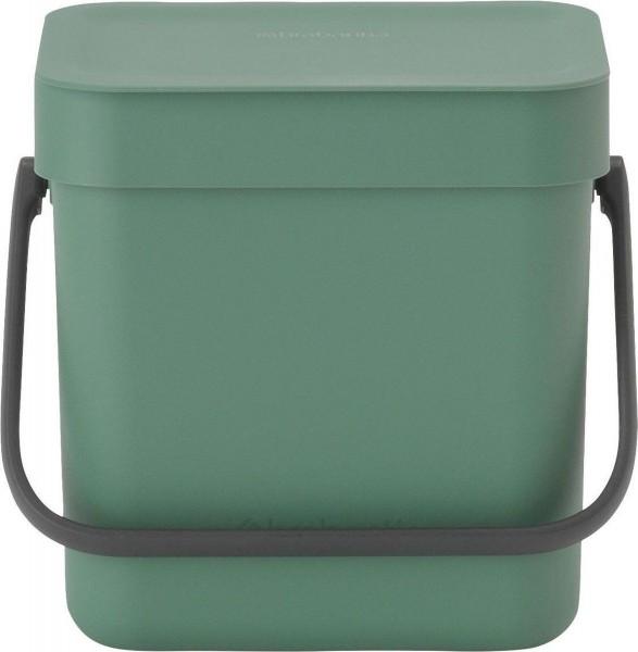 Brabantia sort & go afvalemmer 3 liter fir green