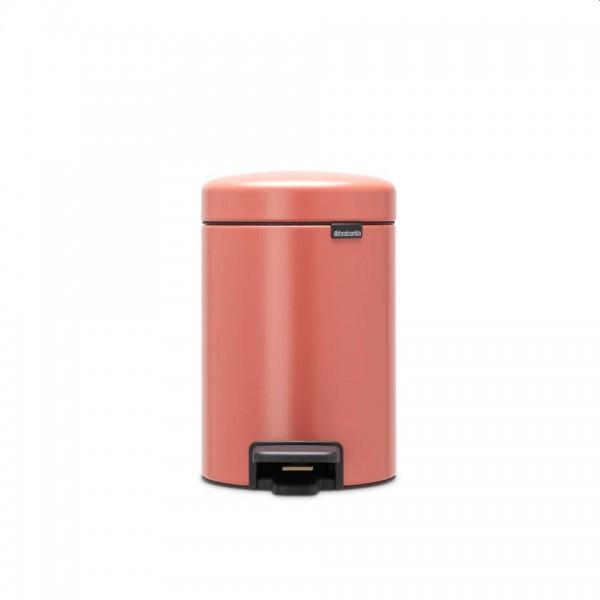 Brabantia NewIcon pedaalemmer 3 liter terracotta pink