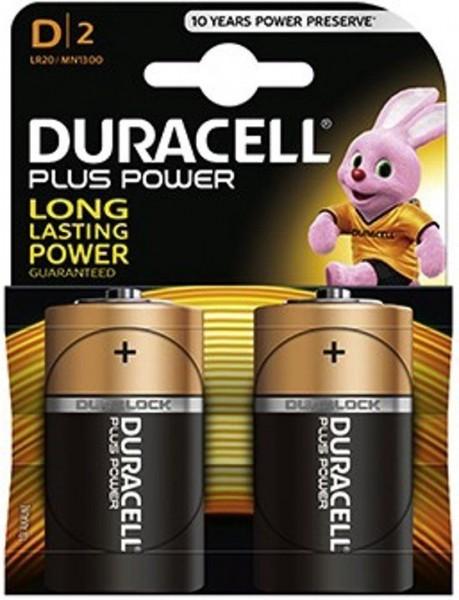 Duracell plus power Duralock R20/D batterij