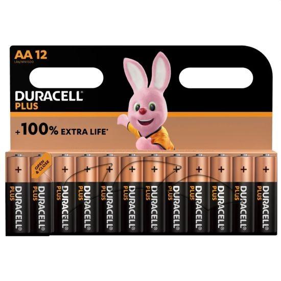 Duracell alkaline plus batterijen aa 12-pack