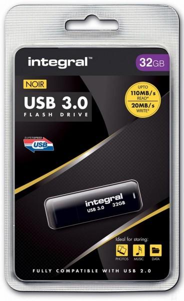 Integral USB-stick zwart 32GB