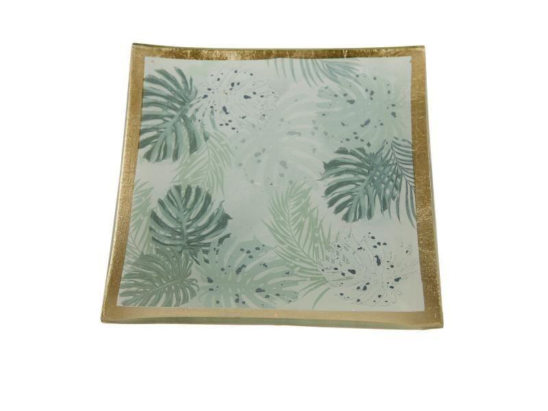 Botanische schaal glas 10x10cm