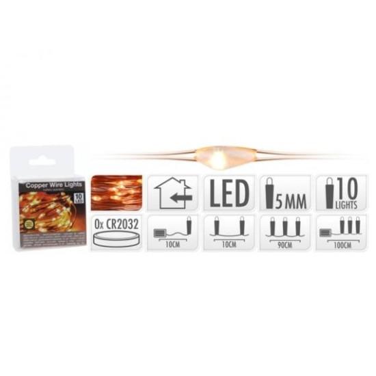 LEDverlichting 10 koper warm wit