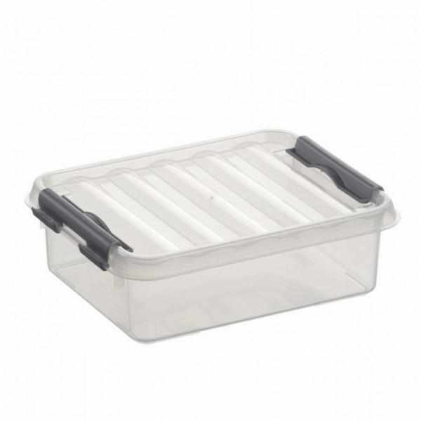 Sunware Q-Line Opbergbox 1 Liter Transparant/Metallic