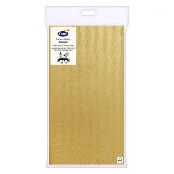 Duni tafellaken goud 138x220cm