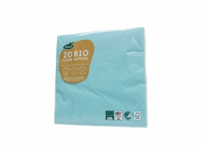 Duni servetten mint blue 33x33cm