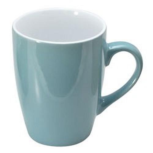 Koffiemok soft 30cl in lichtblauw mintgroen of lichtroze