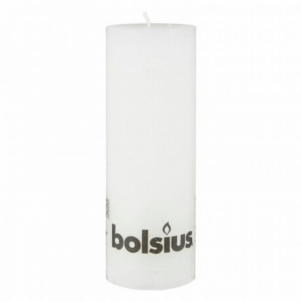 Bolsius Kaars Rustiek Wit 19cm