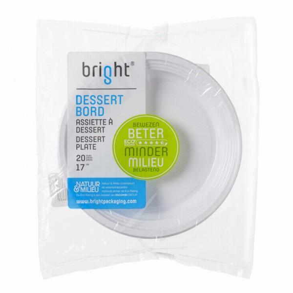 Bright Dessertbord 17 cm 20 Stuks