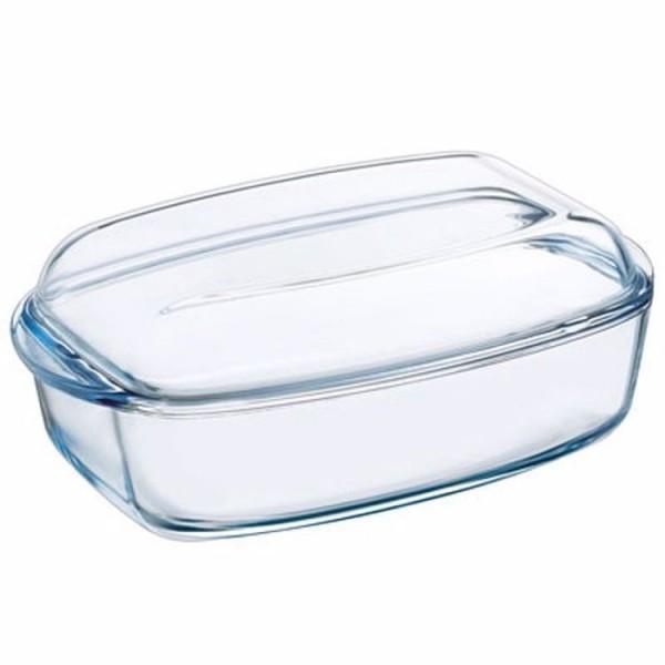 Pyrex essentials rechthoekige schaal met deksel 4 30 liter 2 20 liter