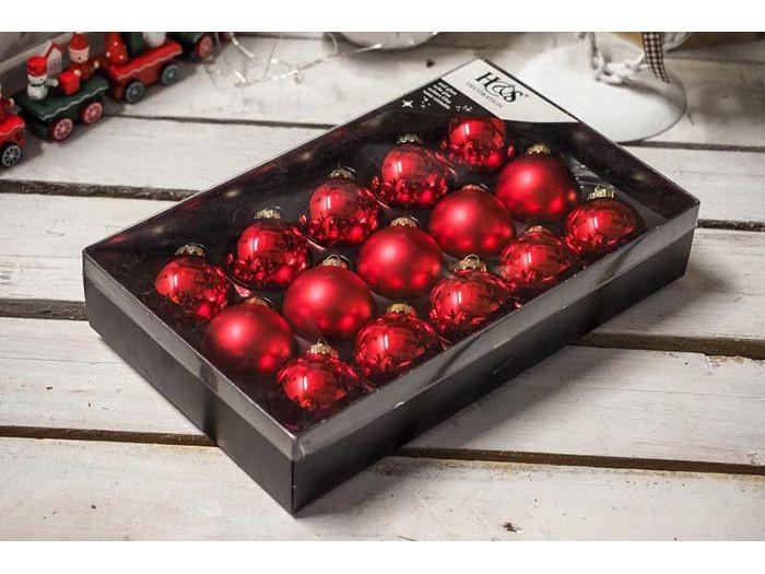 Kerstbal 45mm 15 stuks rood