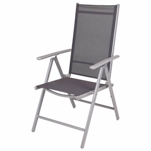 Kp vouwstoel zilver frame