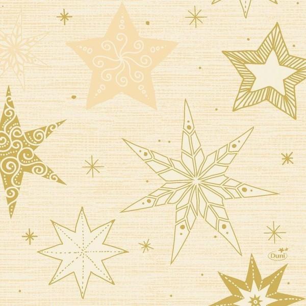 Duni servetten gold star 33cm