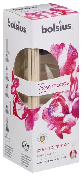 Bolsius True Moods Pure Romance geurstokjes 45ml roseamber