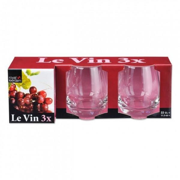 Royal Leerdam drinkglazen 33cl le vin 3-pack