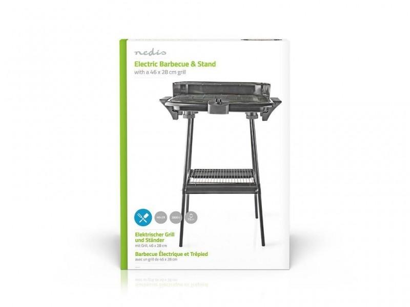Nedis elektrische barbecue staand 46x28cm