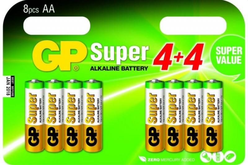 GP Batterijen A4 4+4 alkaline