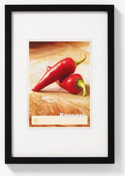 Walther Peppers houten fotolijst 13x18cm zwart