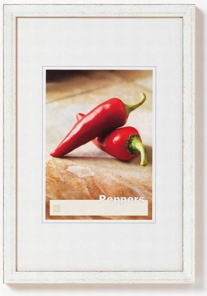 Walther Peppers houten fotolijst 18x24cm zilver
