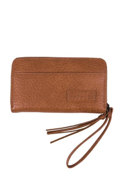 Zusss leuke portemonnee bruin gevlokt