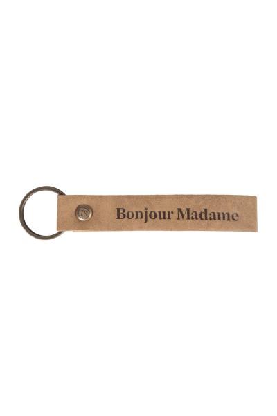 Zusss leuke sleutelhanger lus 'bonjour'