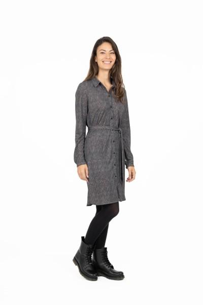 Zusss Blouse jurk met print poederroze