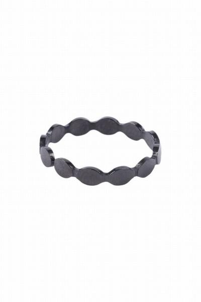 Zusss ring met schulprandje zwart