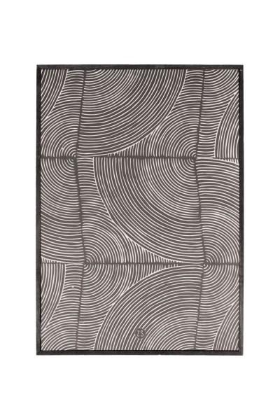 Zusss schilderij grafisch patroon zwart 35x25cm
