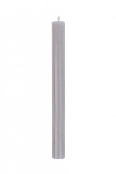 Zusss rustieke kaars 20cm lichtgrijs