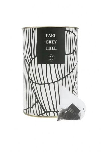 Zusss Thee in luxe koker earl grey wit 9x13,5cm