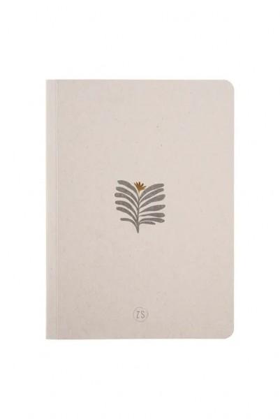 Zusss Schriftje blad grijs 14,8x21cm