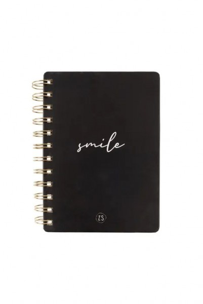 Zusss Notitieboekje smile zwart 10,5x14,8cm