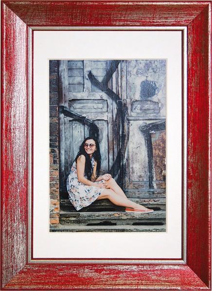 Henzo fotolijst Aimée 10x15cm rood