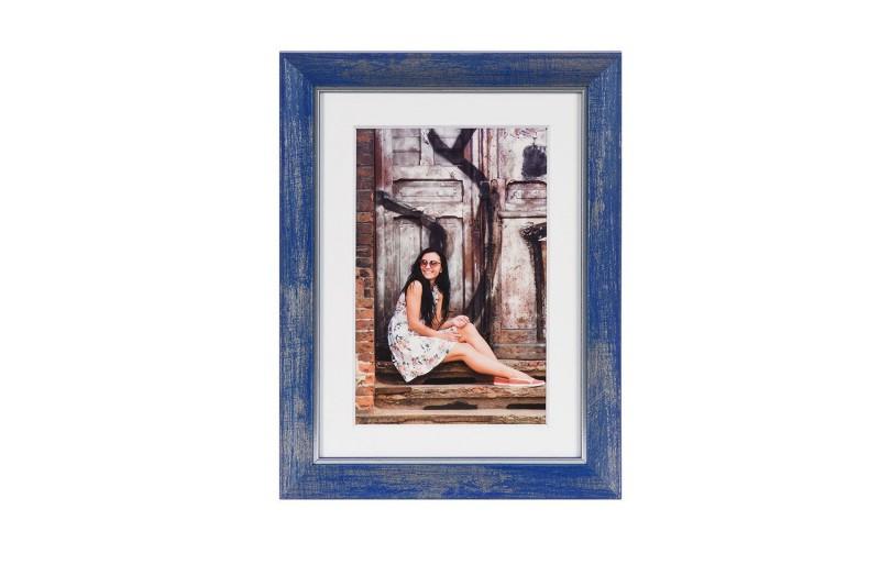 Henzo fotolijst Aimée 13x18cm blauw